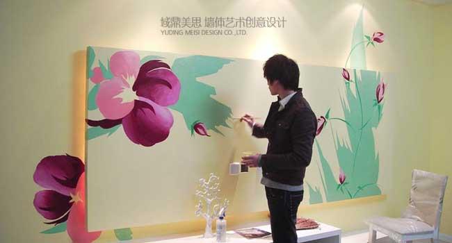 简单的手绘墙画一般都能达到和手稿